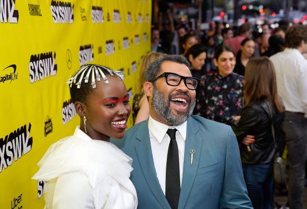 Lupita Nyong'o e Jordan Peele no SXSW 2019. Foto: Ismael Quntanilla.
