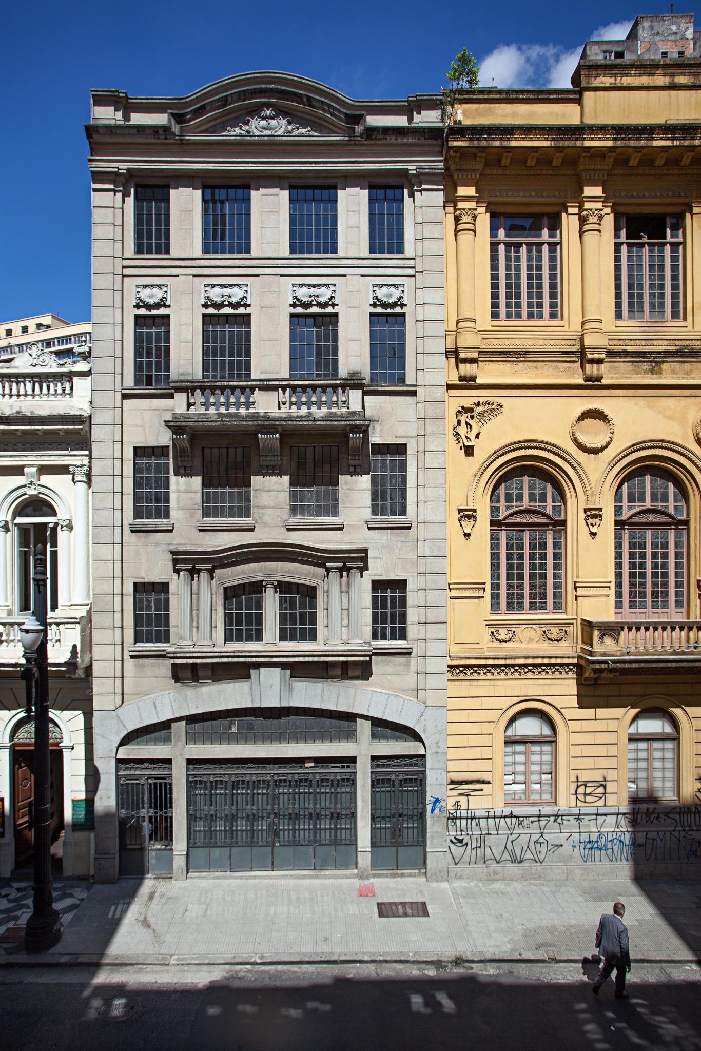 A fachada do prédio que será ocupado pela Ray-Ban, no centro de São Paulo. Foto: divulgação