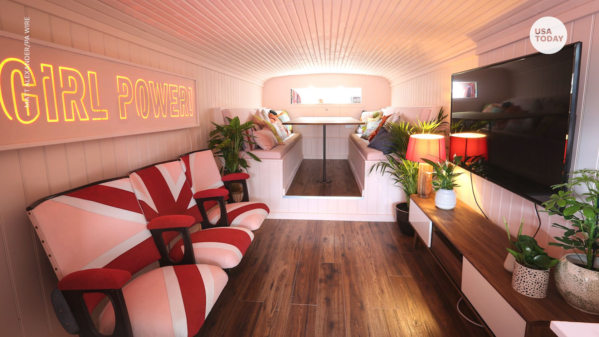 Spice Girls ônibus Airbnb Wembley