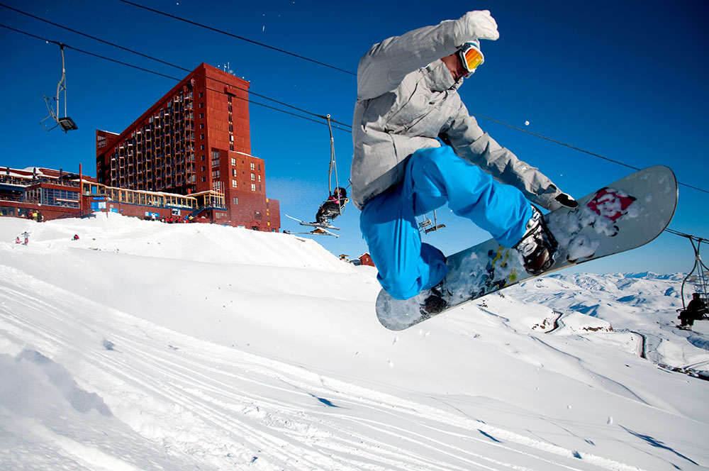 Snowboard no Valle Nevado. Foto: divulgação