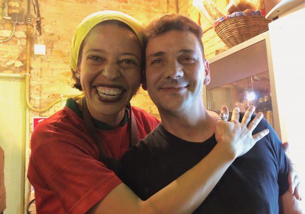 Maria e o Vitor, o mirandês. Foto: Lalai Persson