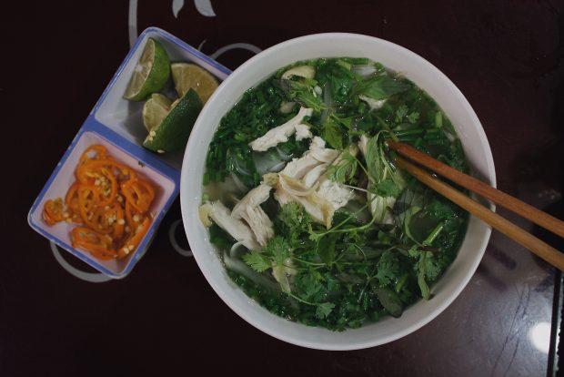 A sopa tradicional vietnamita. Guia uma semana em Hanoi, Vietnã