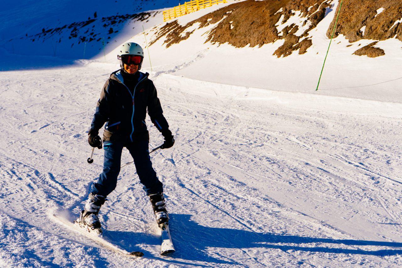 esquiar no Valle Nevado, Chile, esqui