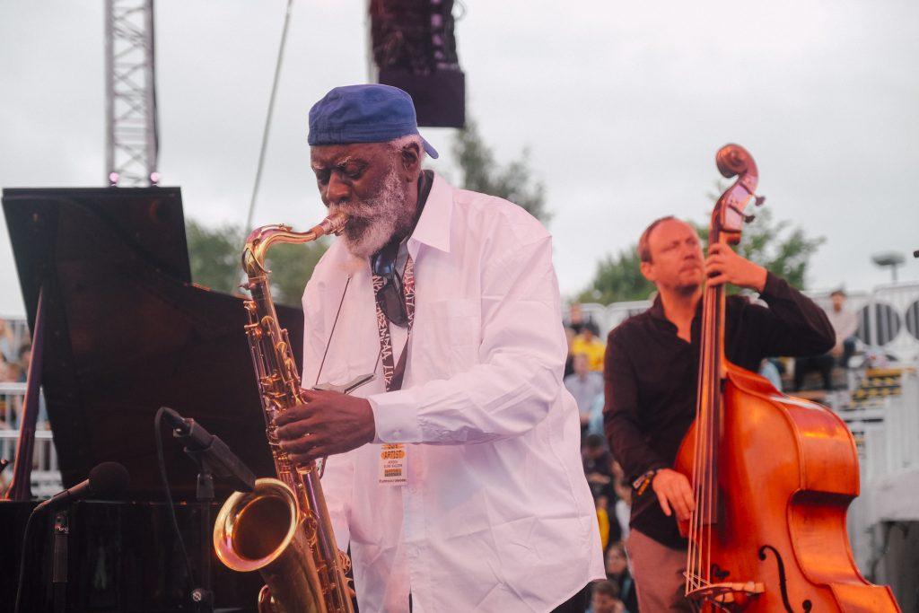 Pharoah Sanders, a lenda do jazz no Flow Festival. Foto: Konstantin Kondrukhov / Flow Festival