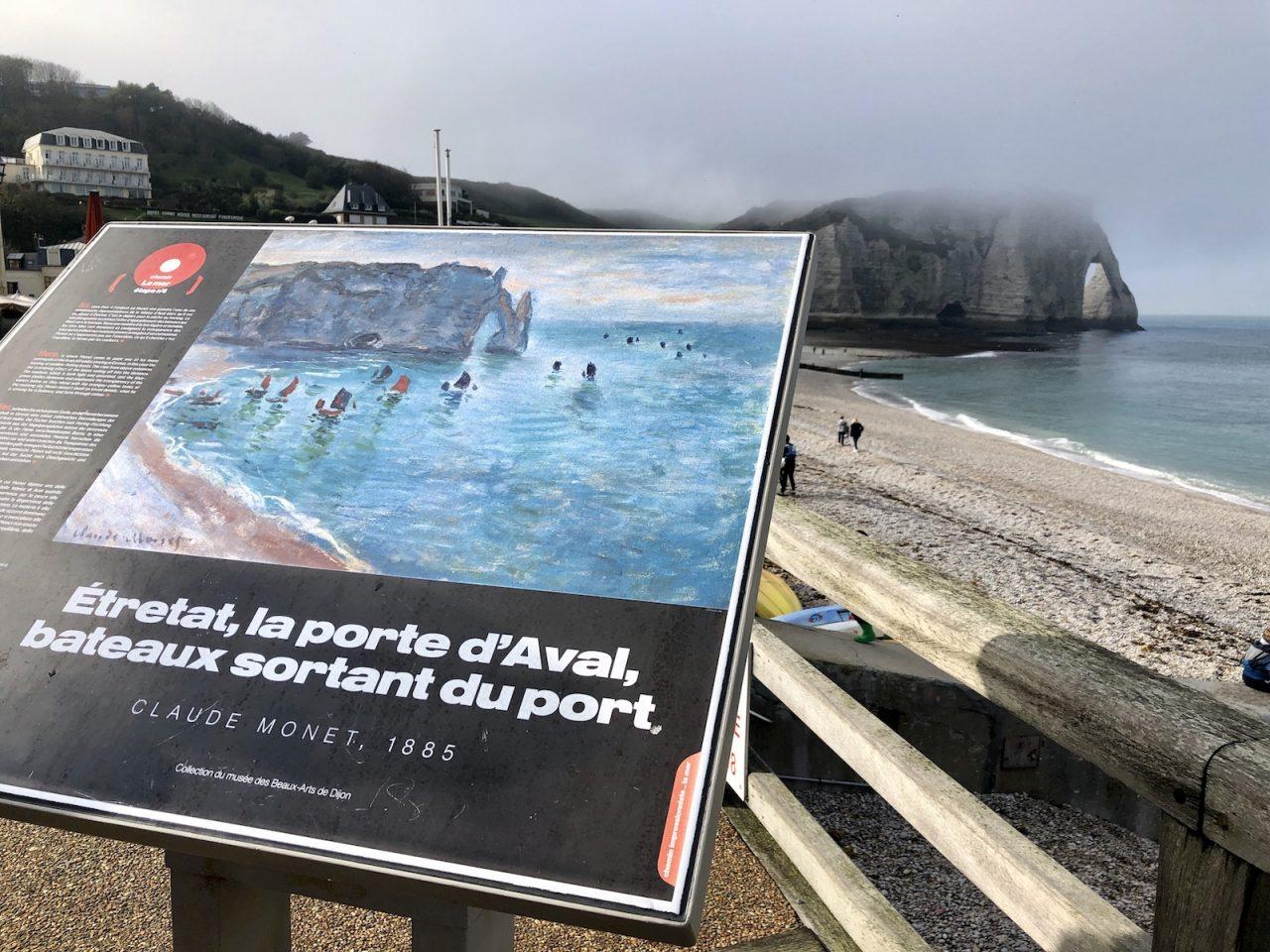 Claude Monet, Étretat, Falésia d'Aval