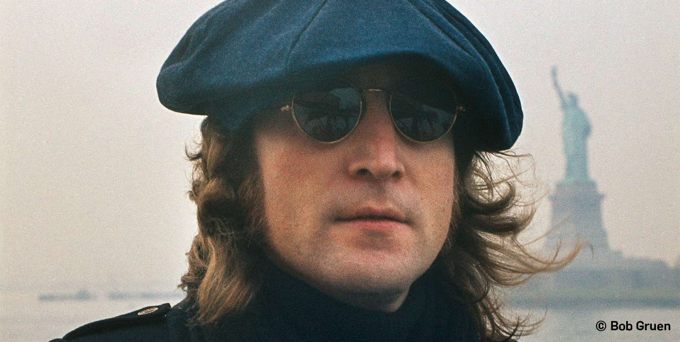 John Lennon em Nova York por Bob Gruen / Foto: Bob Gruen