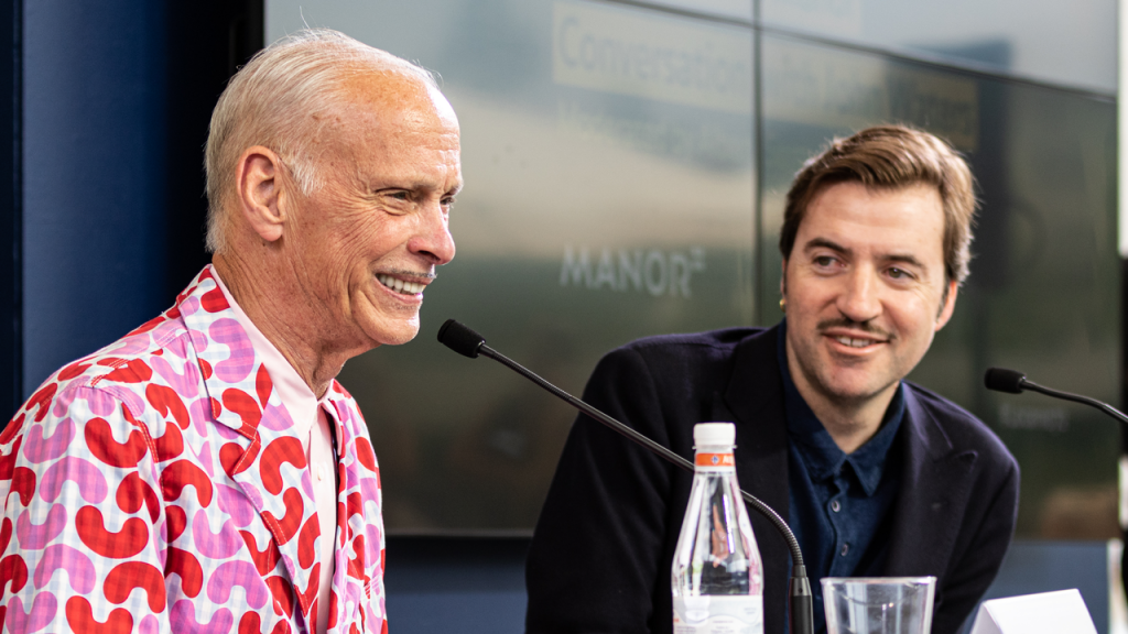 John Waters conversa com Albert Serra durante o We Are One Festival