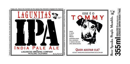 A Lagunitas lançou a campanha 'Donate the Logo', para ajudar animais de rua a serem adotados.