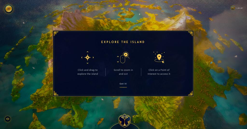 Porta de entrada para a ilha do Tomorrowland 2020