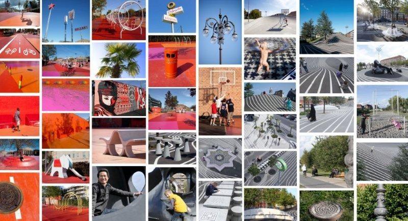 Superkilen Park, projeto de espaço urbano qualificado em Copenhagen, Dinamarca.