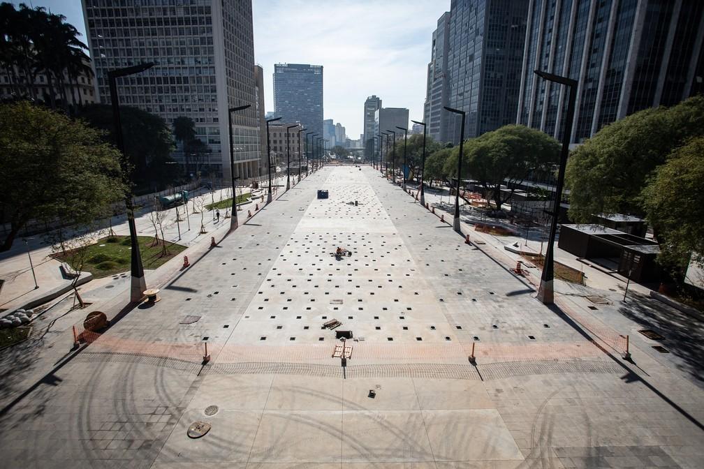 A foto que causou a polêmica sobre o Novo Anhangabaú foi publicada em matéria do portal G1.