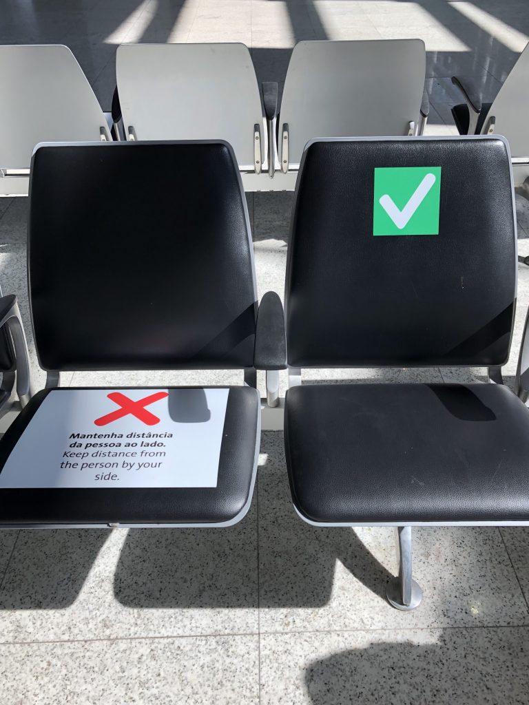 O novo normal dos aeroportos por conta do coronavírus.