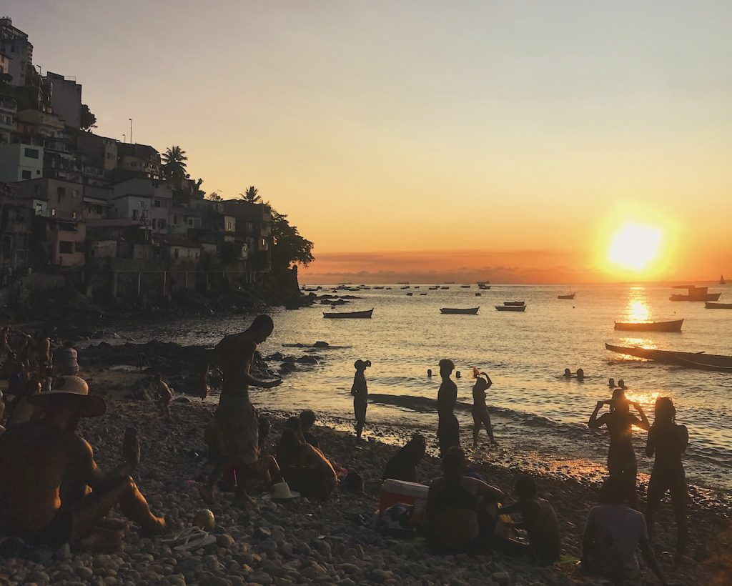 Por do sol em Salvador, Bahia - foto: Liana Rangel