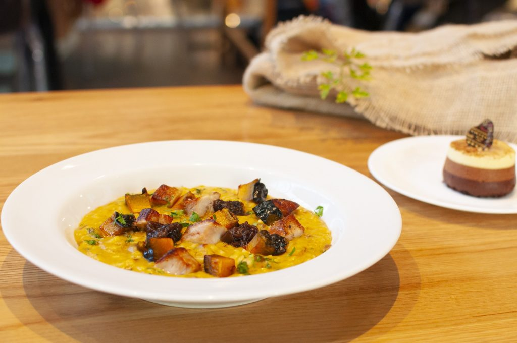 Risoto de abóbora do Eataly para o Gourmet Experience do iFood