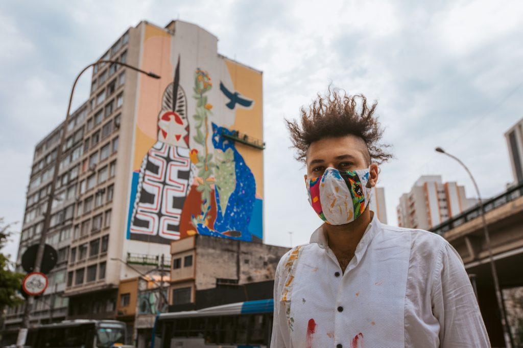 O artista Rimon Guimarães foi o escolhido para fazer parte do projeto Converse City Forests em São Paulo - foto: Divulgação