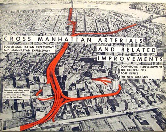 Propaganda do projeto de vias expressas de Robert Moses para Nova York