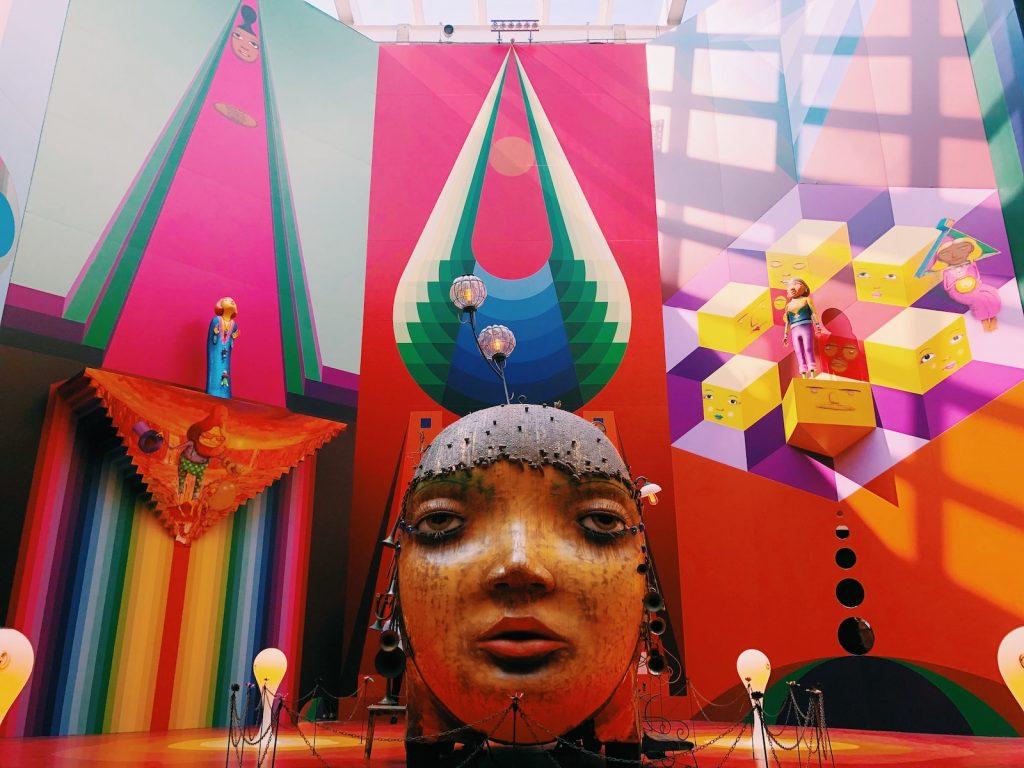 O Octógono da Pina recebeu uma obra site-specific para a exposição OSGÊMEOS: Segredos - foto: Renato Salles