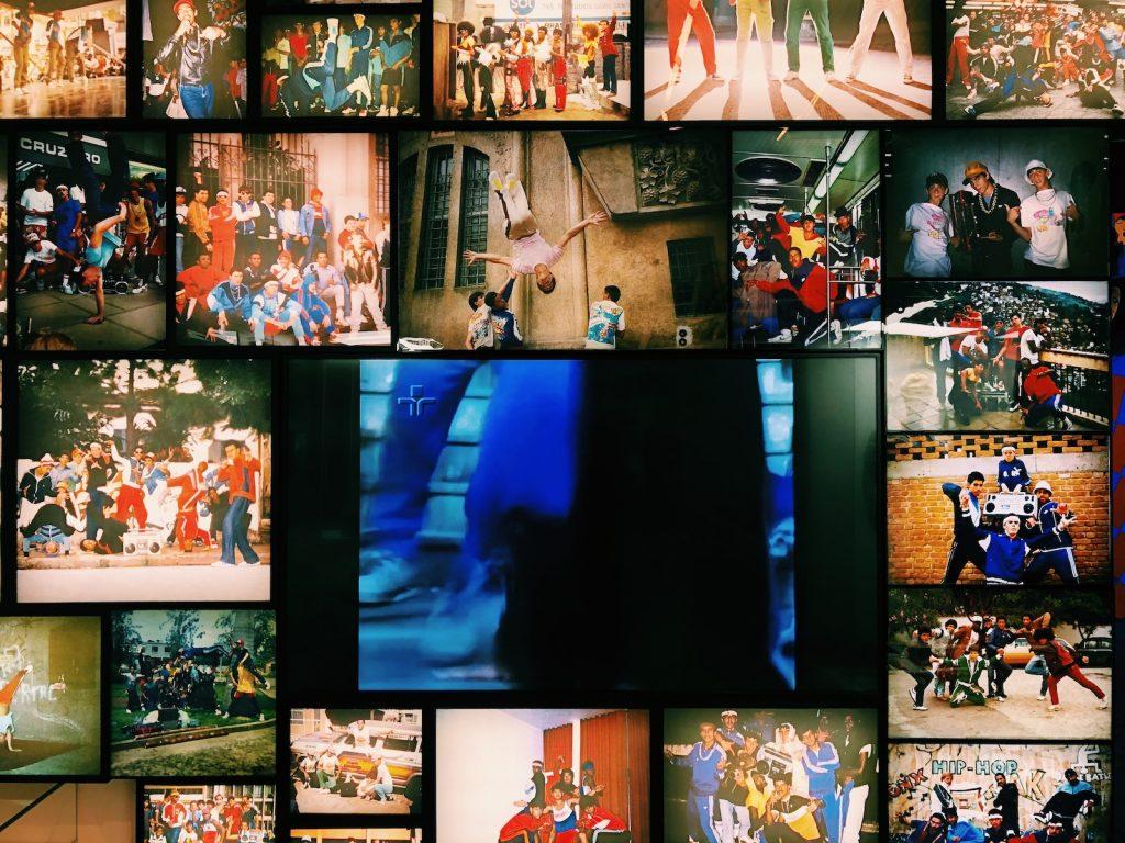 Fotos dos grupos de break dance que os irmãos participaram quando adolescentes - foto: Renato Salles