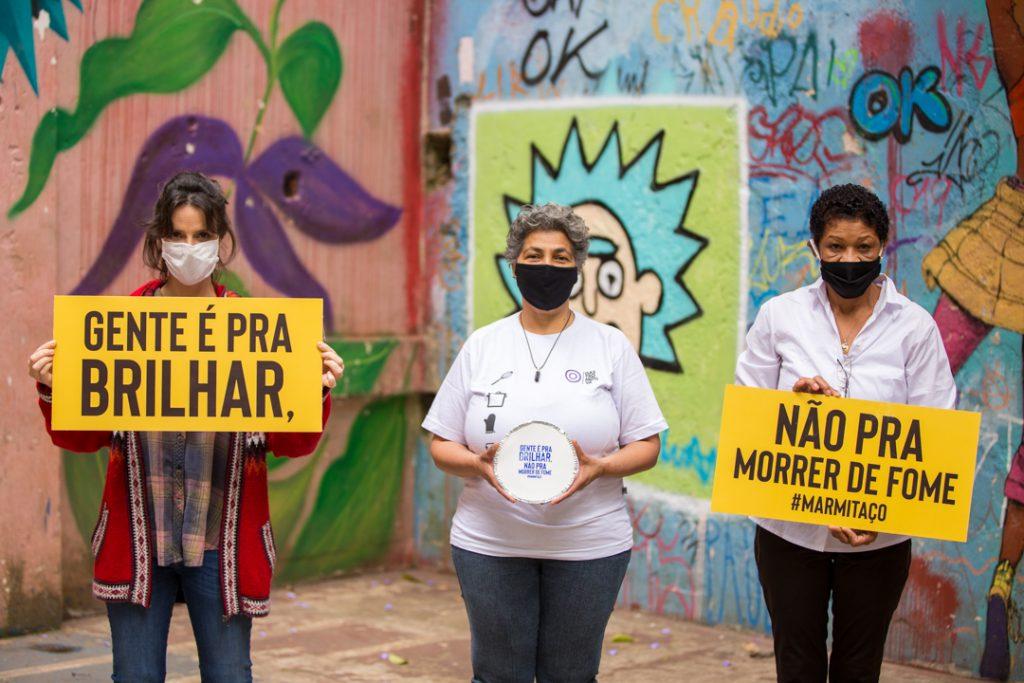 Helena Rizzo, Divonelia Nogueira (Gastromotiva) e Dina Nice (Solano Trindade) - foto: Fellipe Abreu