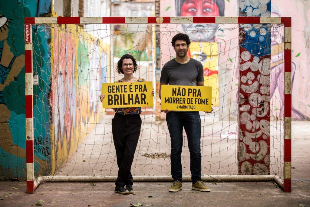 Adriana Salay e Rodrigo Oliveira participam da campanha 'Gente é para brilhar, não para morrer de fome' - foto: Fellipe Abreu