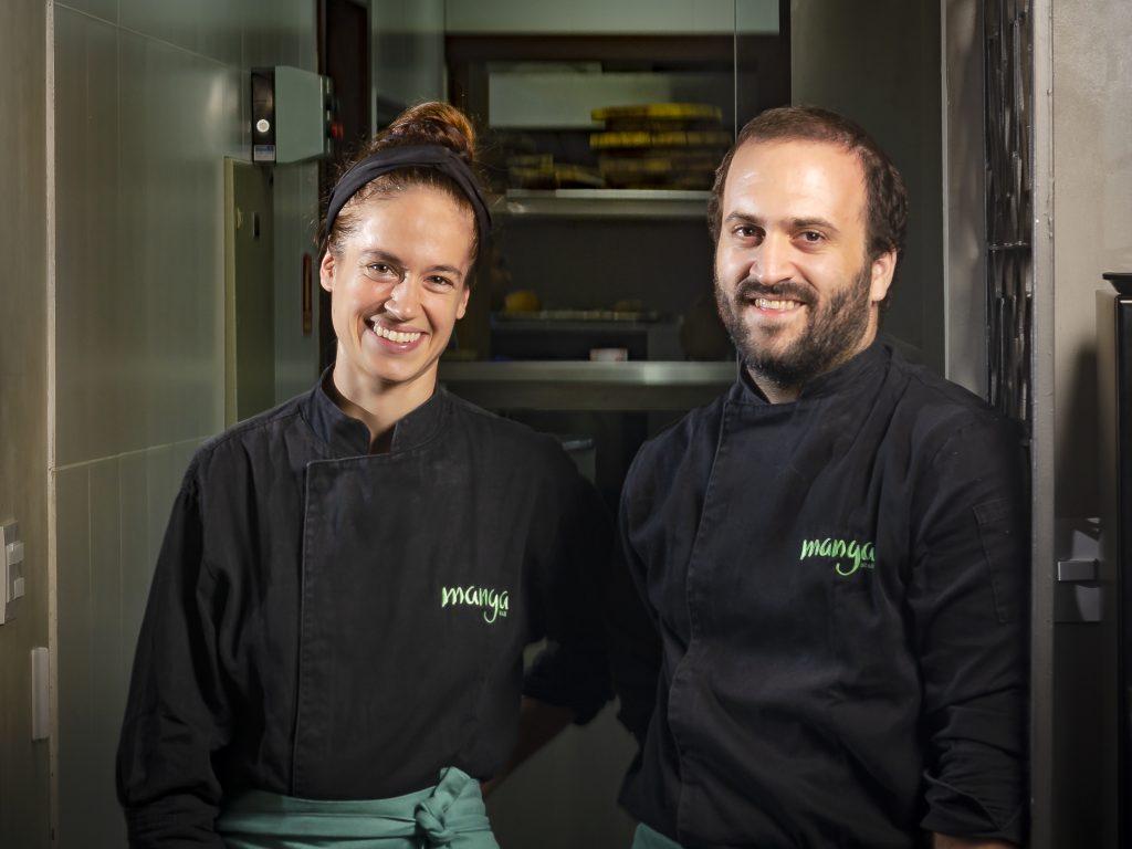 Dante e Kafe Bassi, responsáveis pelo Manga Restaurante em Salvador.