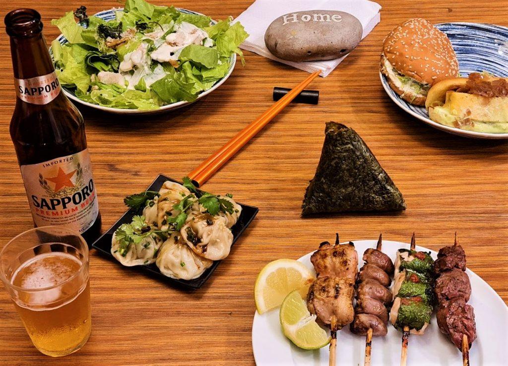 Menu em casa do Kotori.
