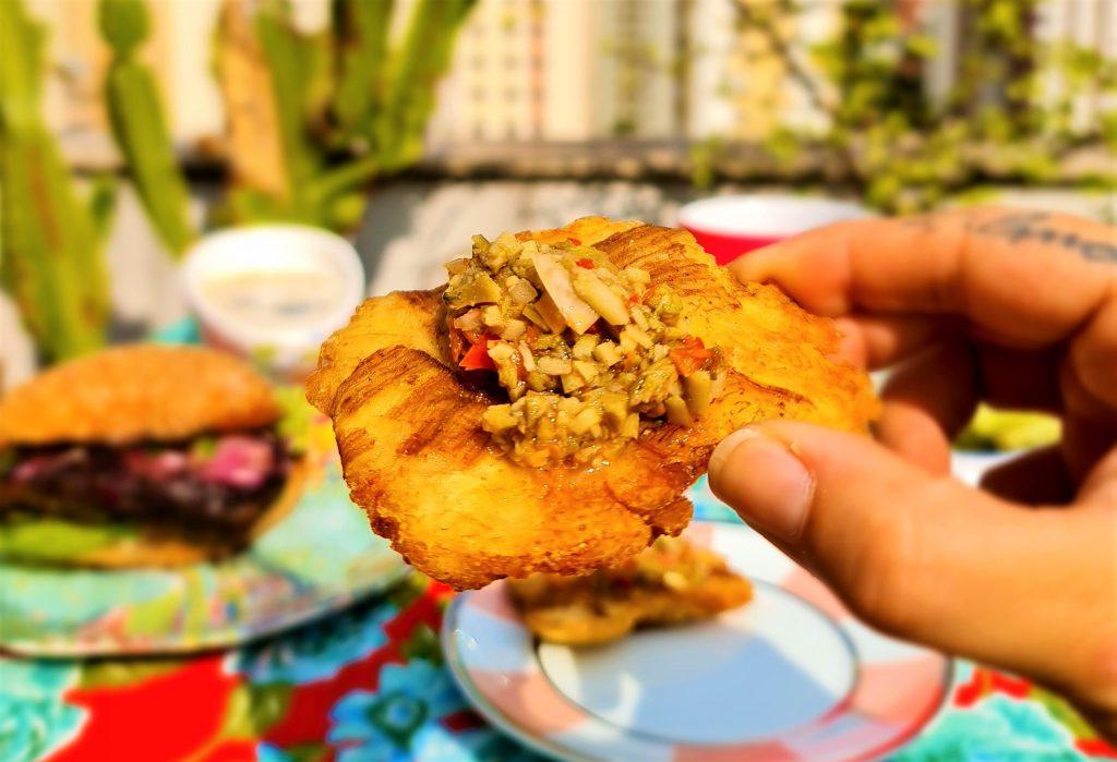 Melhores menus vegetarianos de São Paulo: Patacones da Bela Gil por @entaovah