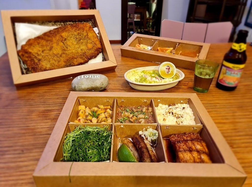 O CPF é uma caixa-prato-feito criada pela Casa do Porco para entregar um menu completo na tua casa.