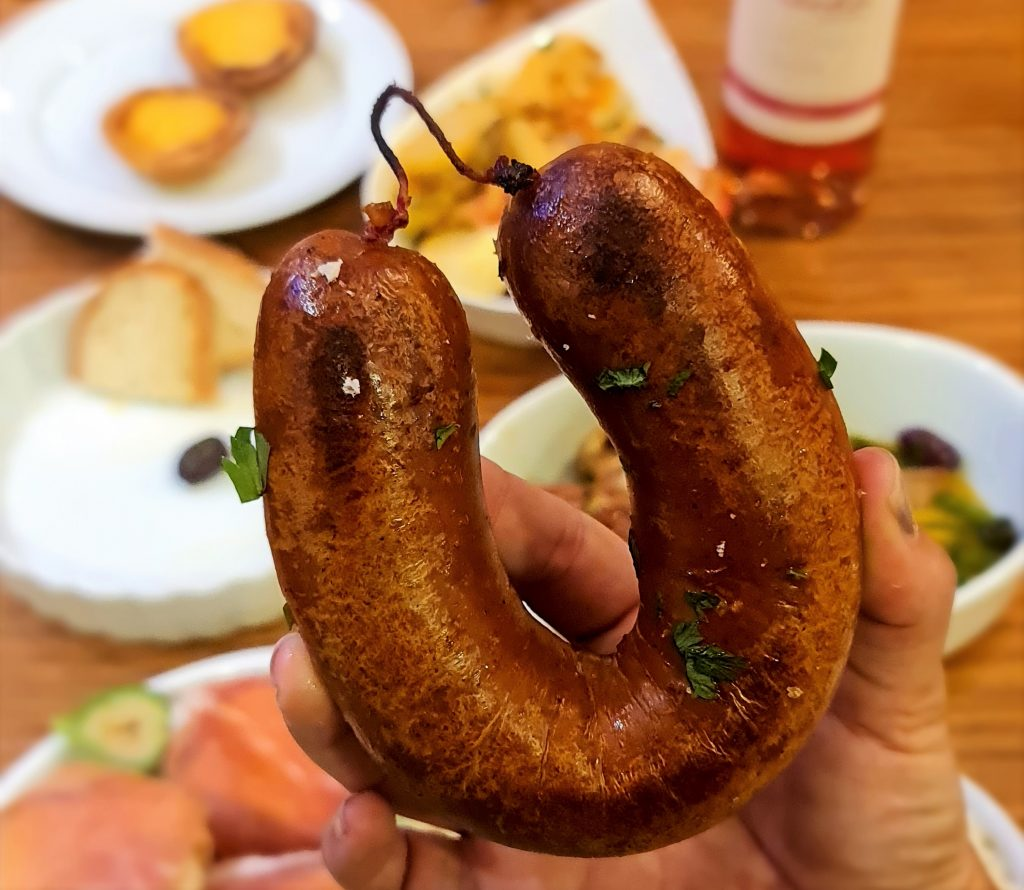 Alheira portuguesa no menu em casa - Restaurantes europeus com delivery em São Paulo