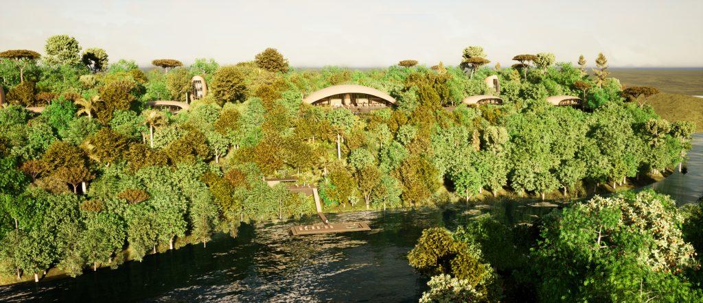 O Mirante do Madadá fica completamente integrado à floresta amazônica