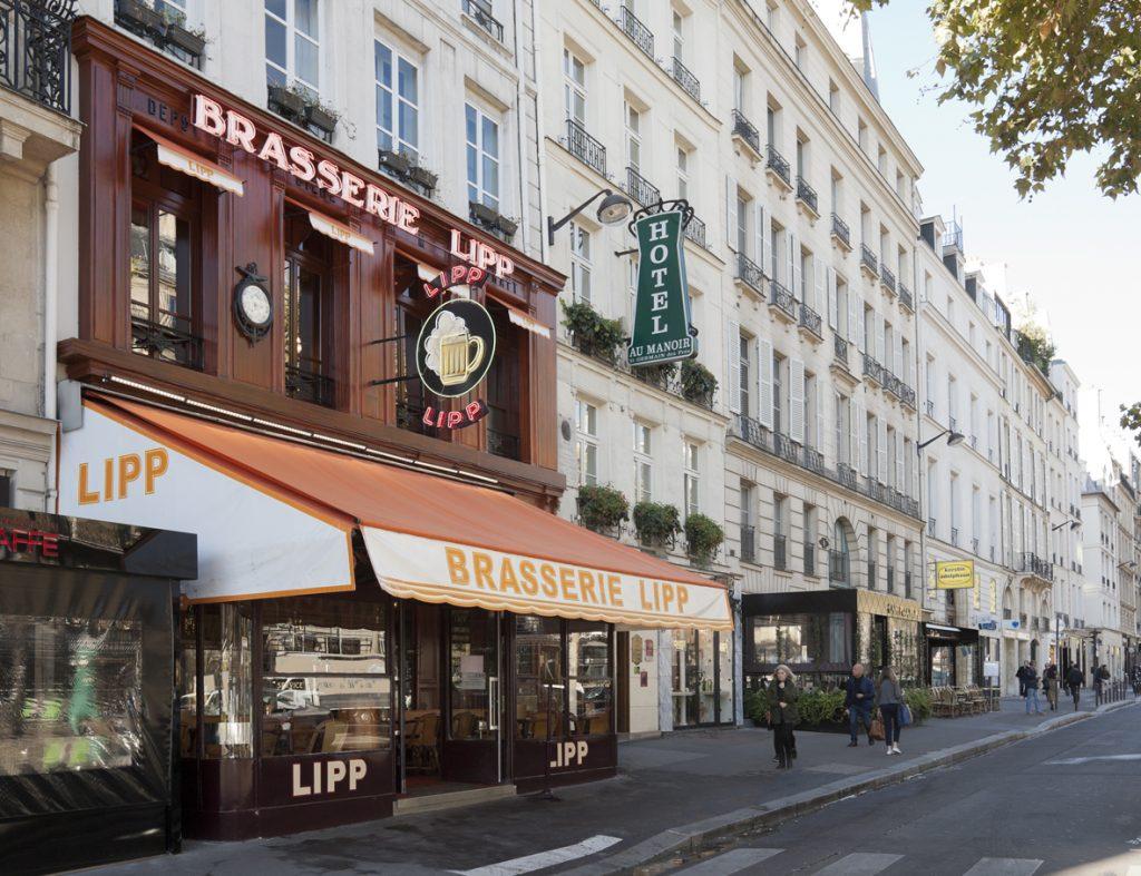A fachada da Brasserie Lipp, Paris. Foto: divulgação