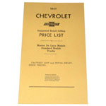 1937 Advertised Delivered Prices booklet, Chevrolet