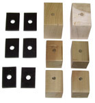 1937 Bed mounting blocks and pads only, short bed