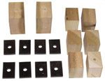 1937 Bed mounting blocks and pads only, long bed