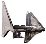 1970 Battery tray and sides assembly with A/C bracket, stainless steel