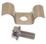 1970 Battery tray A/C bracket clip, stainless steel