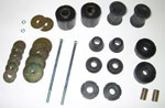 1970 Cab and radiator core support mount kit, rubber