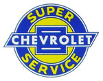 1937 Advertising sales and service decal, Chevrolet