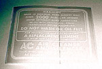 1937 Air cleaner decal, dry element