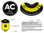 1937 Oil filter decals, AC type