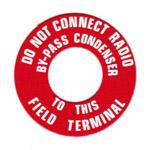 1969 Generator warning tag decal