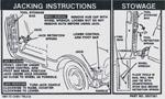 1969 Jacking instruction decal