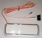 1969 Dome light assembly, plastic chrome base