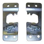 1969 Door striker plates, pair