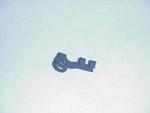 1969 Door remote rod clip, right hand