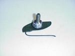 1964 Wide side end moulding clip, bolt-on