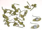 1970 Tailgate moulding clip set, for four tailgate pieces