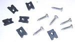 1964 Headlight bezel screw and clip set, Chevrolet