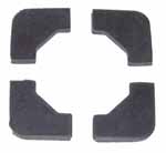 1937 Battery hold-down pads, set of 4