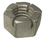 1938 Bumper bolt locking nut only, castilated